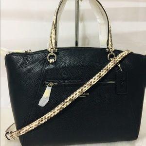 Coach Prairie leather Black Satchel Crossbody Bag